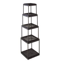 Distressed Black Stacking Shelf (4 pc. set)