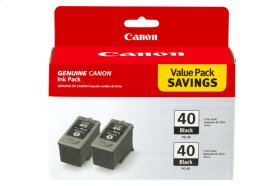 Canon PG-40 Black Ink Twin Pack PG-40 Twin Pack