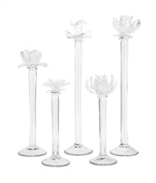 Monie Glass Flower Statuaries - Set of 5