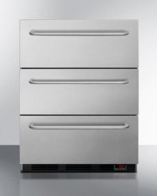 3-drawer Manual Defrost All-freezer In Stainless Steel, for Built-in or Freestanding General Purpose Use; Replaces Spf5dsstb5ada
