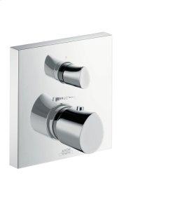 Brushed Gold Optic Thermostat for concealed installation with shut-off/ diverter valve