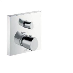 Polished Gold Optic Thermostat for concealed installation with shut-off/ diverter valve