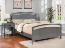 Reisa Bed - King, Flat Grey Finish