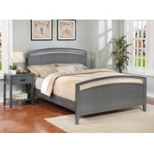 Reisa Bed - King, Flat Grey Finish