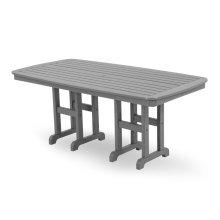 "Slate Grey Nautical 37"" x 72"" Dining Table"