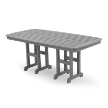 "Slate Grey Nautical 37"" x 72"" Dining Table"