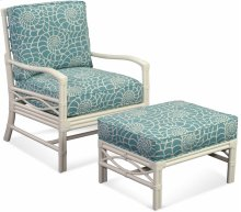 Manchester Wicker Chair and Ottoman