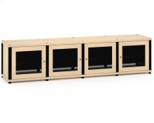 Synergy Solution 247, Quad-Width AV Cabinet, Maple with Black Posts