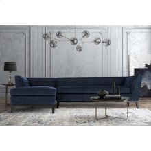 Jess Navy Linen LAF Sectional-Chaise