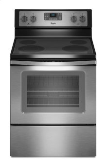 SAVE ON MIS-ORDERED RANGE - BLACK STAINLESS STEEL WITH FULL WARRANTY _ WHIRLPOOL 5.3 Cu. Ft. Freestanding Electric Range with Easy Wipe Ceramic Glass Cooktop