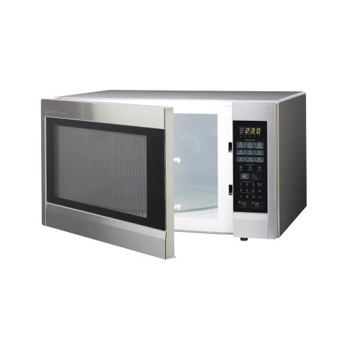 2.2 cu. ft. 1200W Sharp Stainless Steel Carousel Countertop Microwave Oven