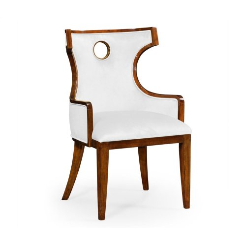 Greek Revival Biedermeier Mahogany Armchair - COM