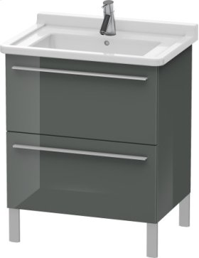 Vanity Unit Floorstanding, Dolomiti Grey High Gloss Lacquer