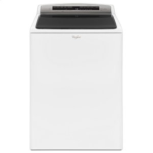 4.8 cu.ft HE Top Load Washer with Built-In Water Faucet, Intuitive Touch Controls - WHITE