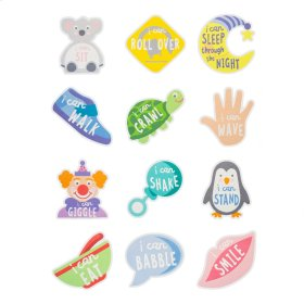 """12 pc. set. """"I Can..."""" Belly Stickers"""