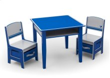 Jack and Jill Storage Table & Chair Set, Blue and Grey - Style 1