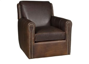 Austin Leather Swivel, Austin Leather Ottoman