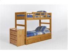 Heartland Two Piece Bunk Bed with options: Honey Pine, Included, 2 Drawer Storage