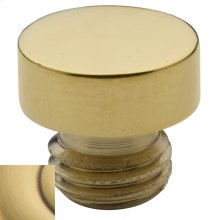 Satin Brass and Brown Button Finial