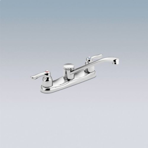M-BITION chrome two-handle kitchen faucet