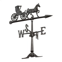"24"" Country Doctor Weathervane - Black"