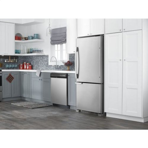 29-inch Wide Bottom-Freezer Refrigerator with Garden Fresh™ Crisper Bins -- 18 cu. ft. Capacity - stainless steel