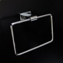 Wall mount towel ring made of chrome plated brass