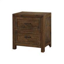 2 Drawer Nightstand-burnished Pine Finish