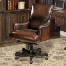 DC#106 Brown Wipe Leather Desk Chair Product Image