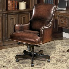 DC#106 Brown Wipe Leather Desk Chair