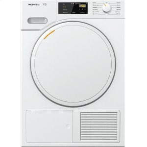 MieleTWB120WP T1 Classic heat-pump tumble dryer With FragranceDos for laundry that smells great.