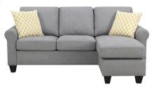 Emerald Home U4200-09-03 Claudette Reverible Sectional, Soft Gray