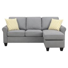 Emerald Home U4200-09-03 Claudette Reverible Sectional, Soft Gray