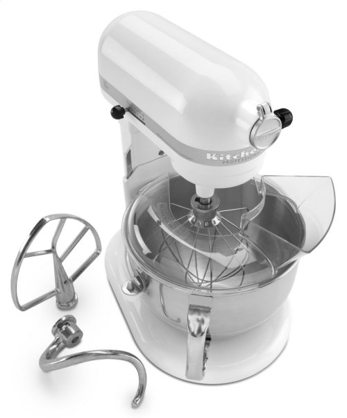 Pro 600 Series 6 Quart Bowl-Lift Stand Mixer - White