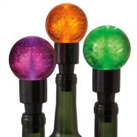 Halloween Fiber Optic Bottle Stopper (3 asstd) Product Image