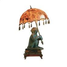 MONKEY ON BOOKS LAMP