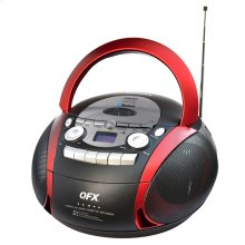 Portable Am/fm Stereo Radio With Cd/mp3/usb/cassette/bluetooth Player