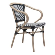 Paris Dining Arm Chair Black & White