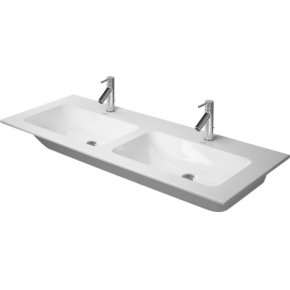 Me By Starck Double Furniture Washbasin 1 Faucet Hole Punched