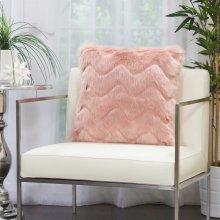 """Faux Fur Vv056 Blush 20"""" X 20"""" Throw Pillows"""