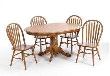 Dining - Classic Oak Chestnut Laminate Pedestal Table