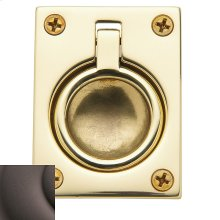 Distressed Venetian Bronze Flush Ring Pull