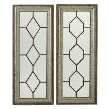 Geo Wall Mirror with Galvanized & Wood Frame (2 asstd)