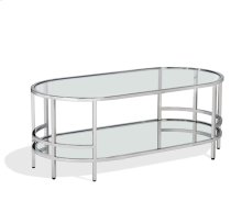 Hayden Cocktail Table - Nickel