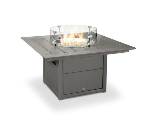 "Slate Grey Square 42"" Fire Pit Table"