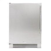 24 Inch Solid Stainless Door Left Hinge Undercounter Refrigerator