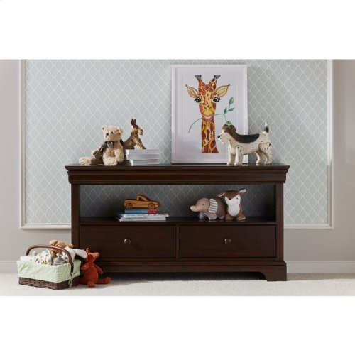 Teaberry Lane Midnight Cherry Low Bookcase