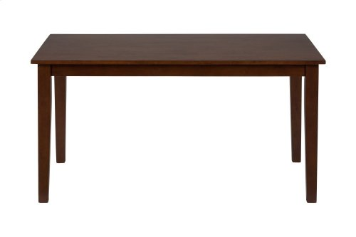 Simplicity Caramel Rectangle Dining Table With Six X Back Dining Chairs