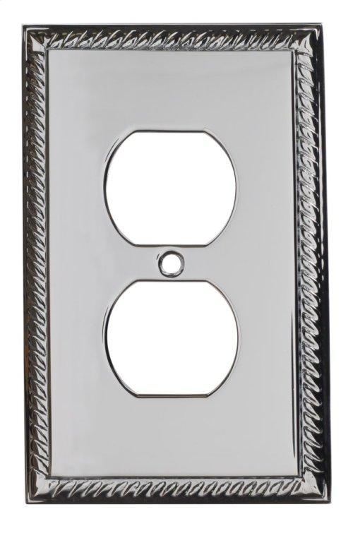 Single Duplex Arlington Switch Plate - Polished Chrome