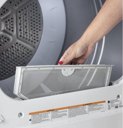 GE® 6.2 cu. ft. Capacity aluminized alloy drum Gas Dryer